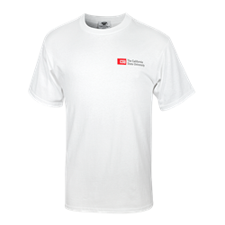 CSU Left Chest Logo Tee - White